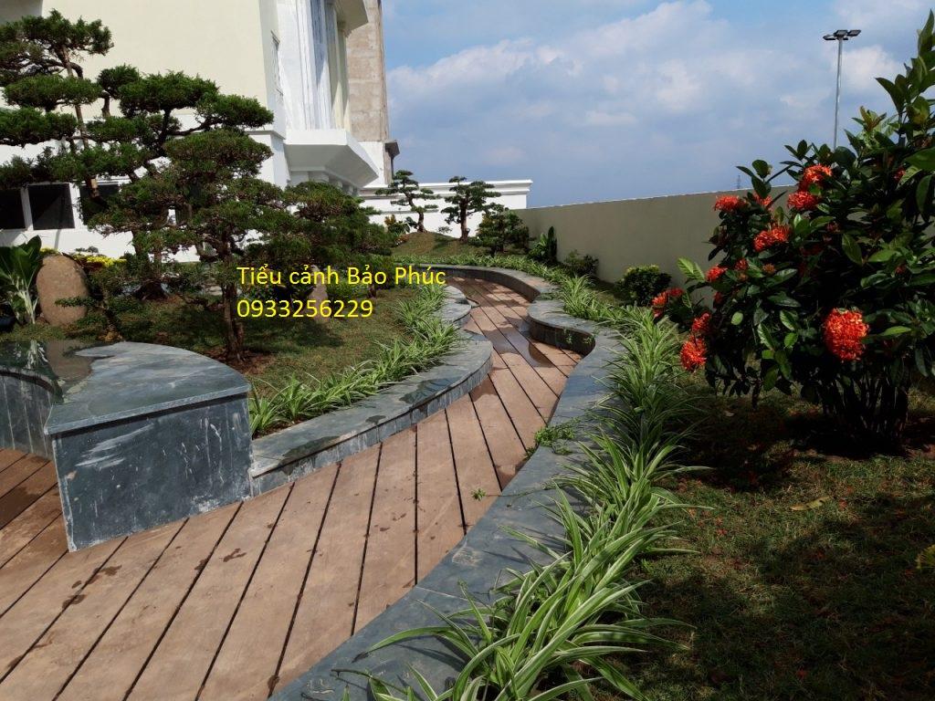 Thiết kế tiểu cảnh sân vườn đẹp tại tổng công ty Tecco Thanh Trì, Hà Nội
