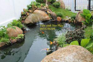 Hồ cá Koi nhỏ đẹp tại Vincom Long Biên